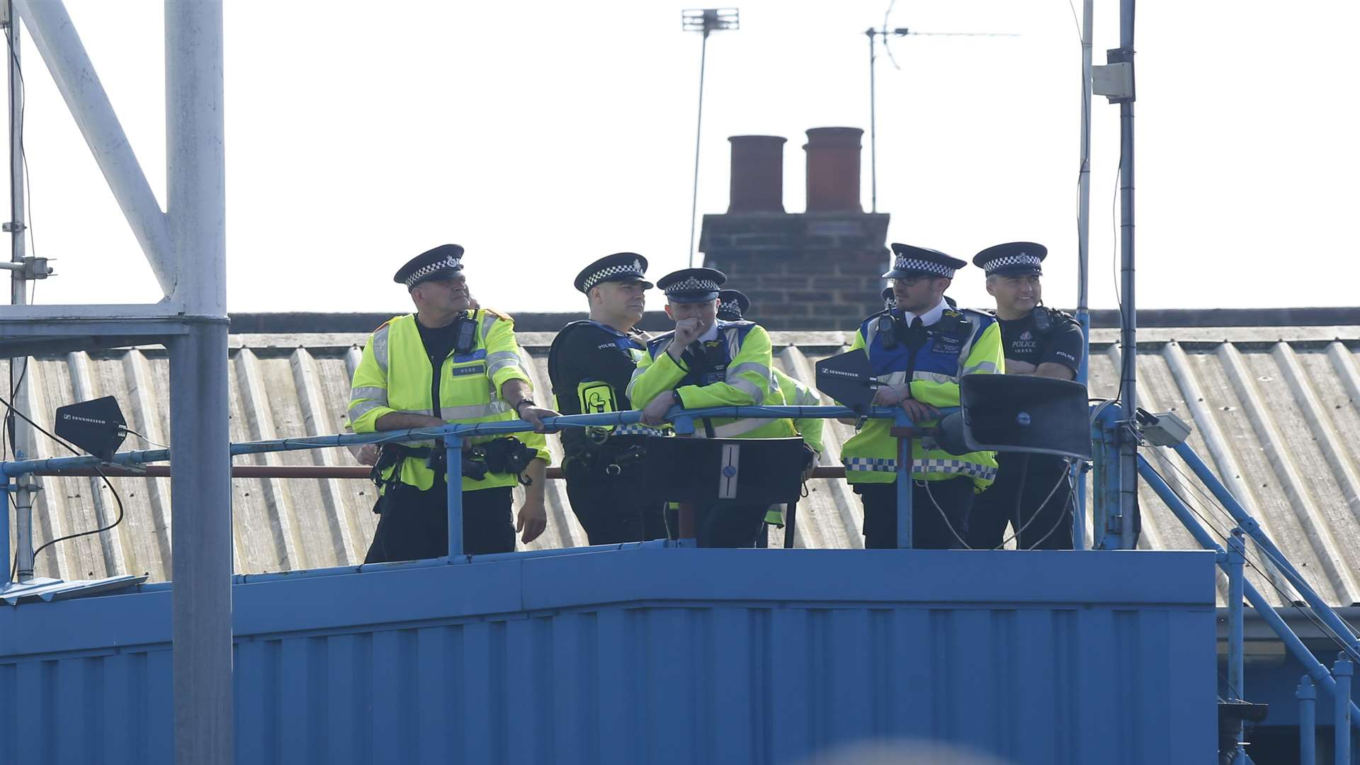 There was a heavy police presence at Priestfield Stadium