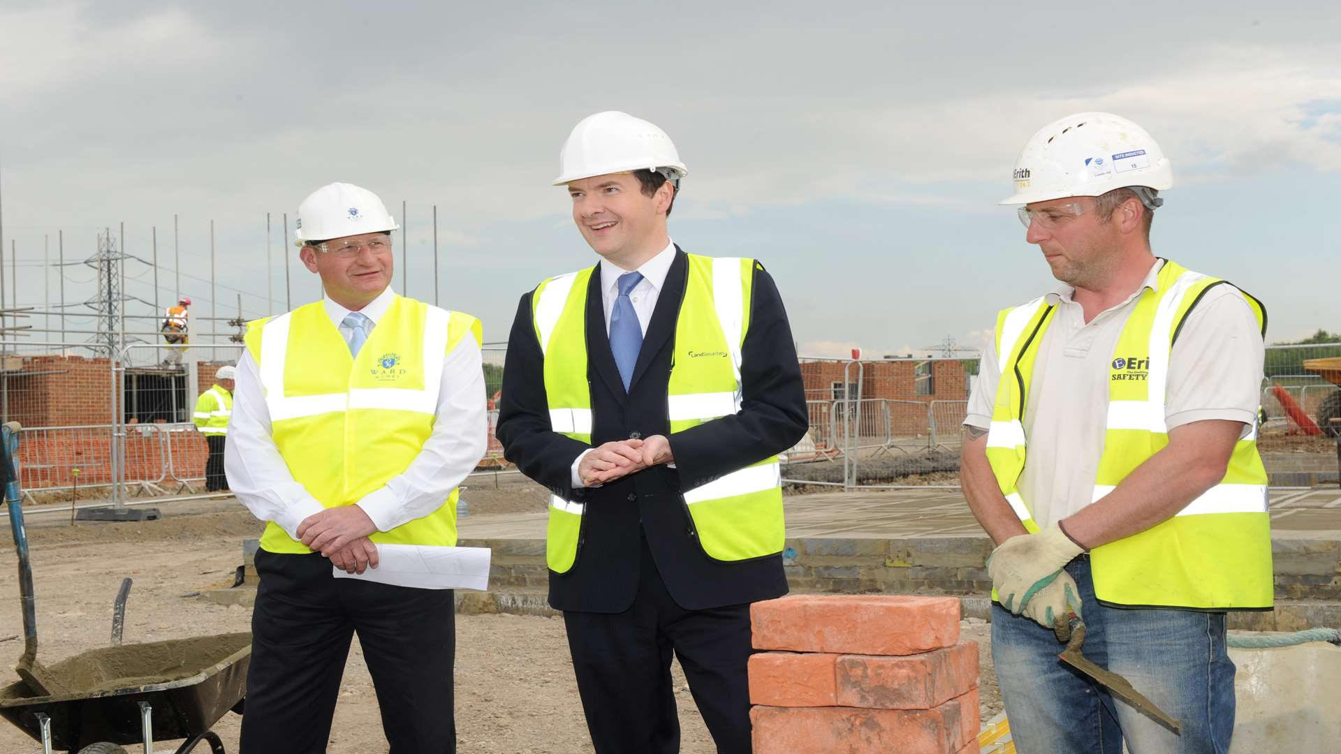 Chancellor George Osborne on a visit to Ebbsfleet in 2014.