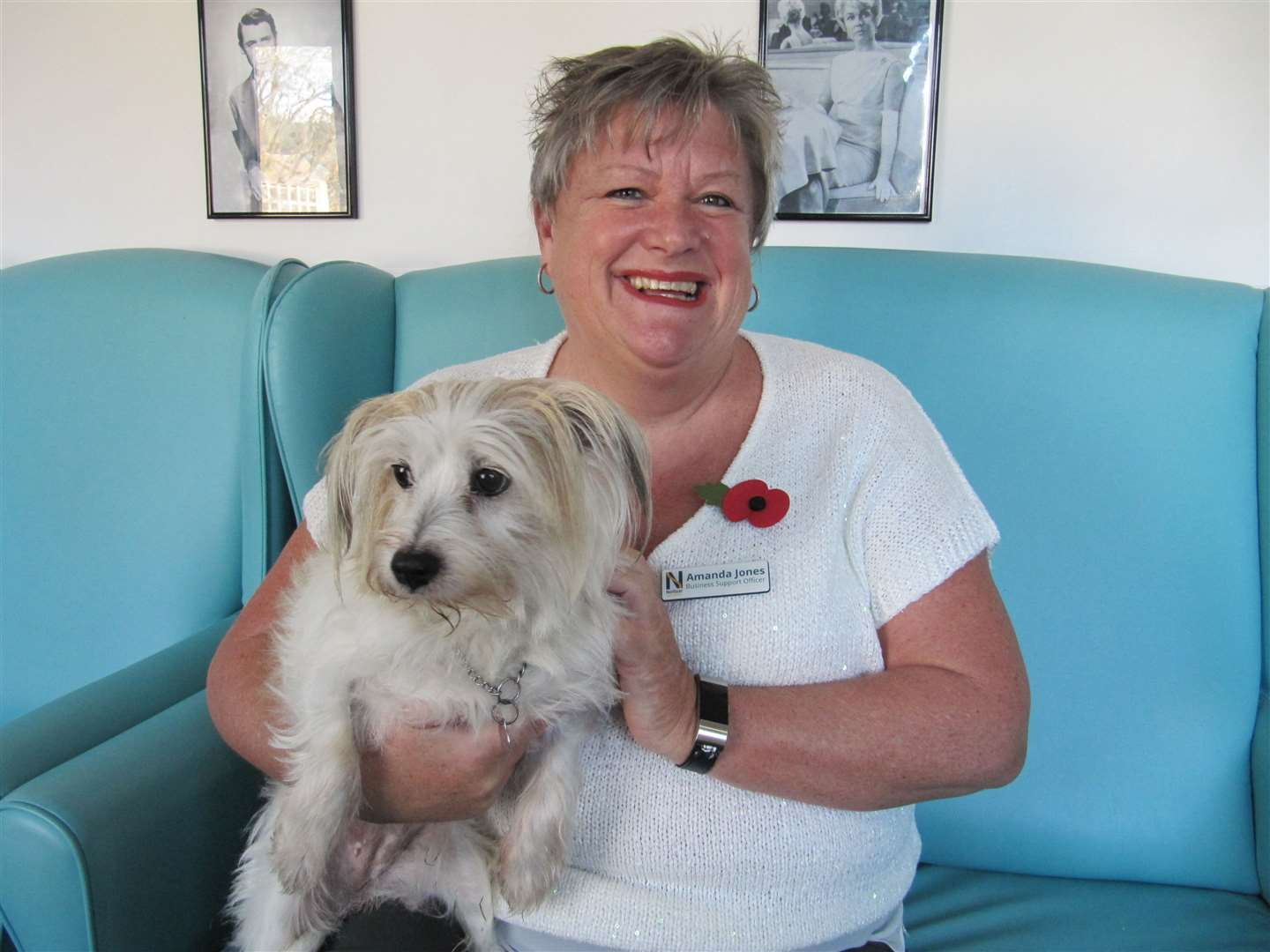 Business support officer, Amanda Jones, and her loyal companion Roxi. Picture: Nellsar