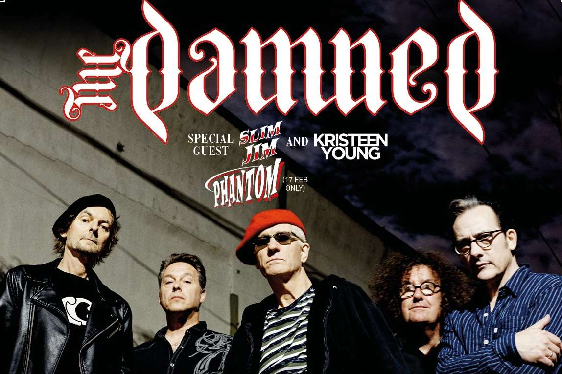 The Damned at Folkestone as part of their Evil Spirits tour