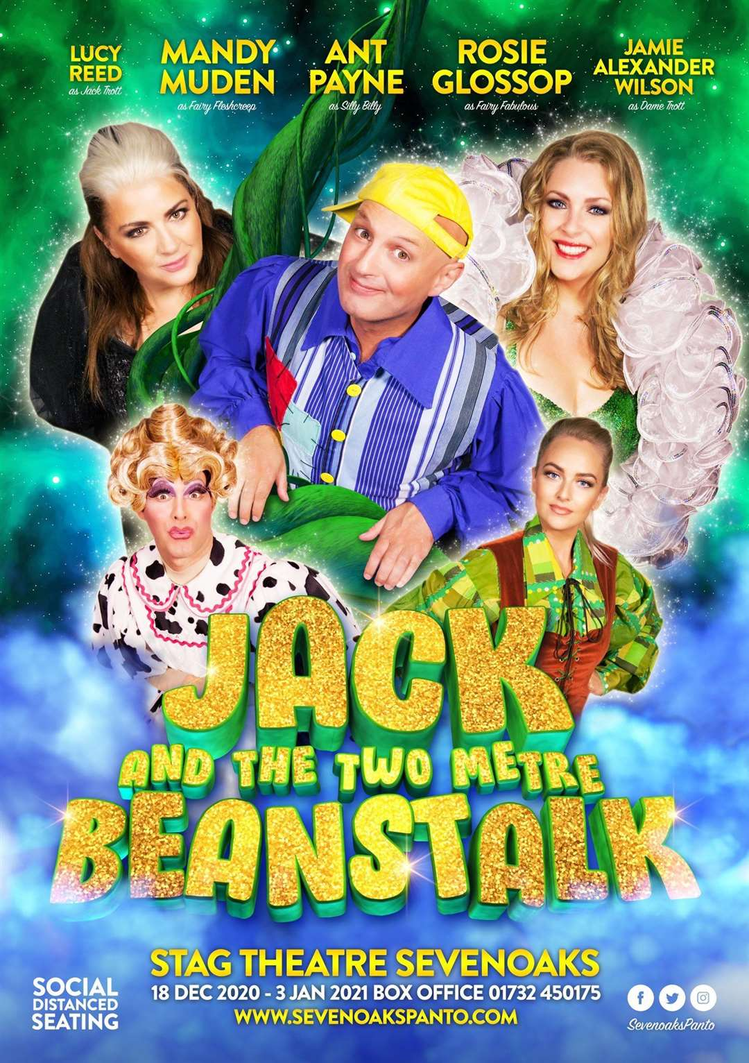 Jack And The Beanstalk is coming to the Stag Theatre in Sevenoaks this Christmas
