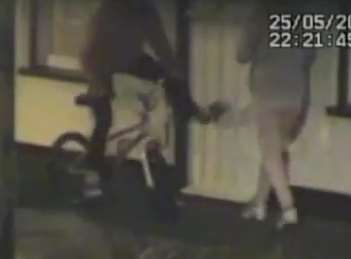 A thug kicks at the pensioners' door as they are subjected to anti-social behaviour