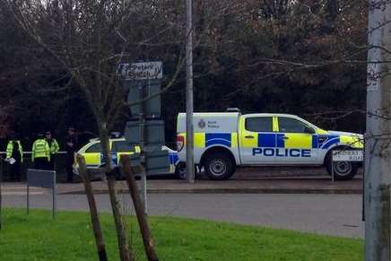 Police at the scene of the assault in Whitfield. Picture: @mark_jennings
