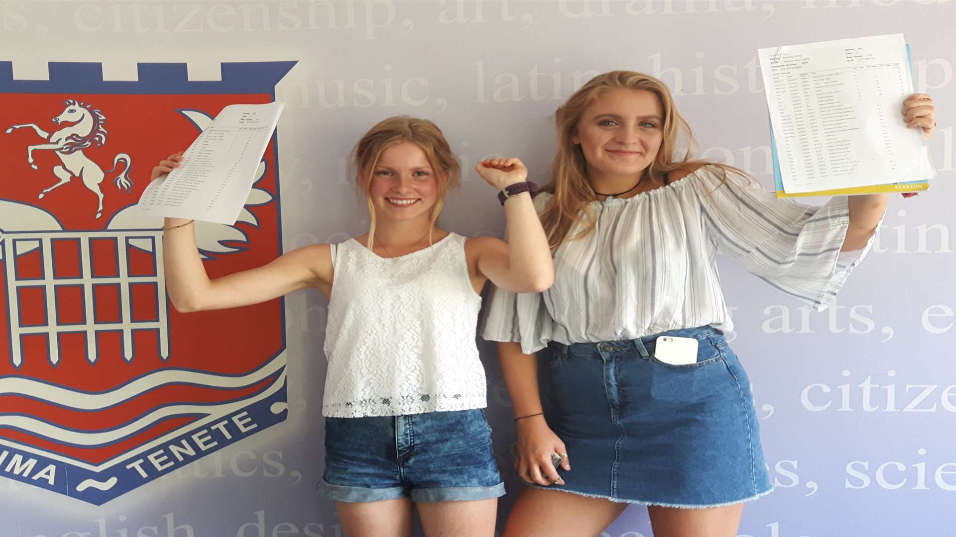 Kristen Hayes and Jessica Lyons celebrate great results
