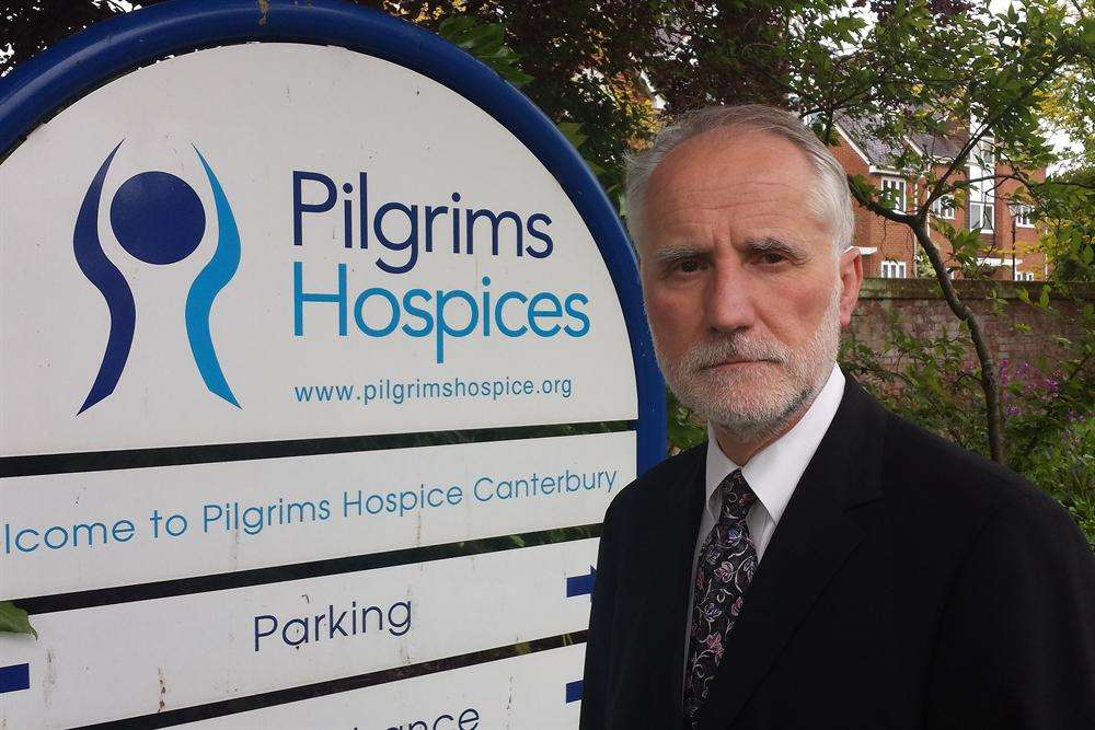 Former Pilgrims Hospice chief executive Steve Auty who stepped down.