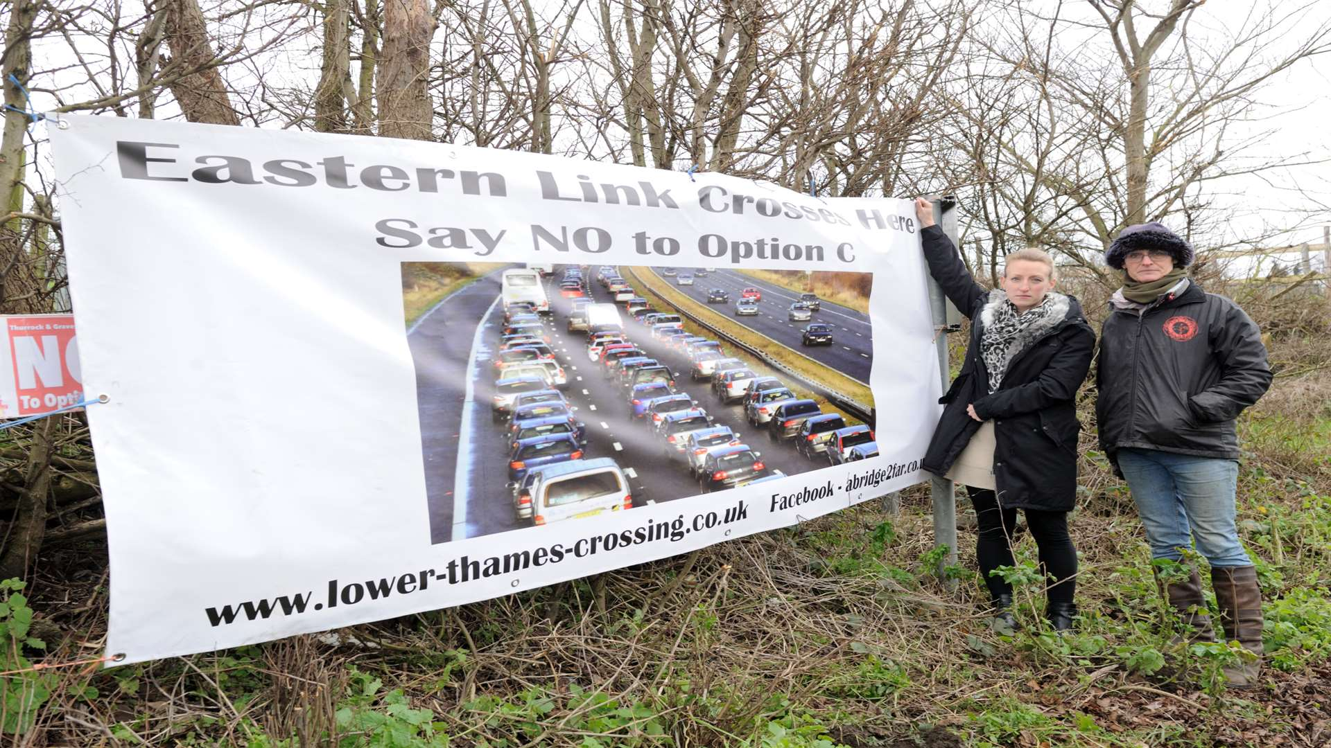 Adam Holloway MP taking a walk around Shorne, the site of the proposed new crossing