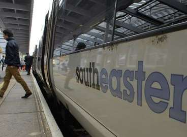 Southeastern Railway tweeted about the fallen tree. Stock image