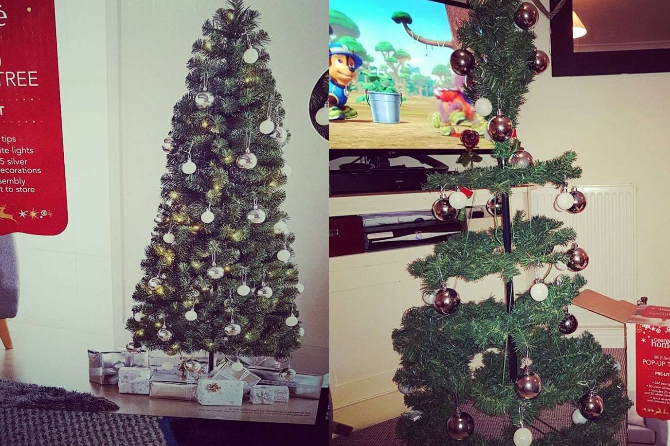 The advertised tree vs reality