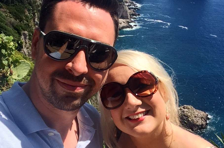 The newlyweds had a lucky escape from the terrifying experience and are enjoying their honeymoon. Picture: Lucy Westbrooke