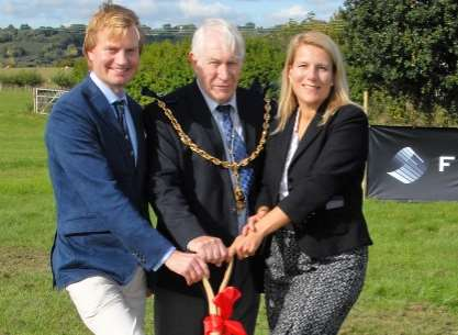 From left, Alan Firmin managing director Michael Firmin, Mayor of Maidstone, Cllr Malcolm Greer and Berry Gardens chief executive Jacqui Green