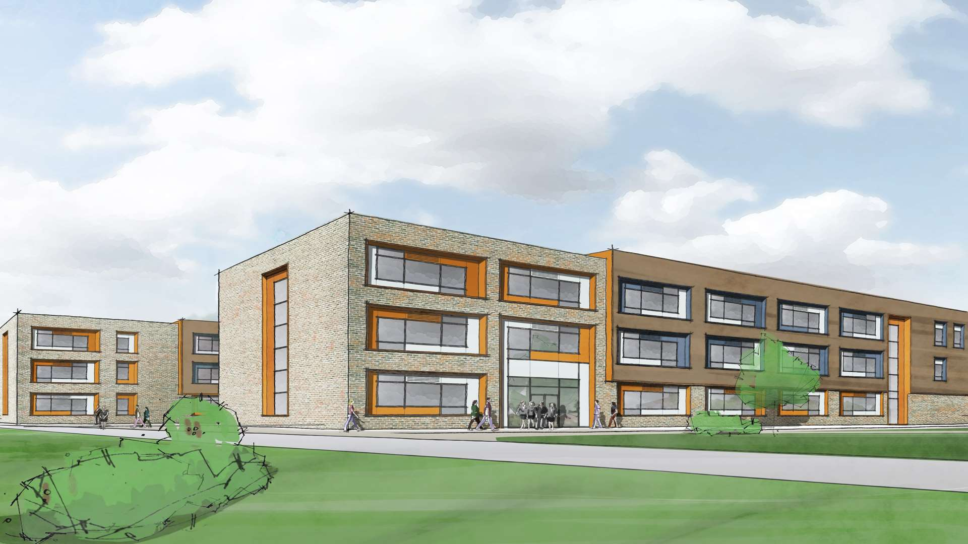 An artists' impression of the Maidstone School of Science and Technology