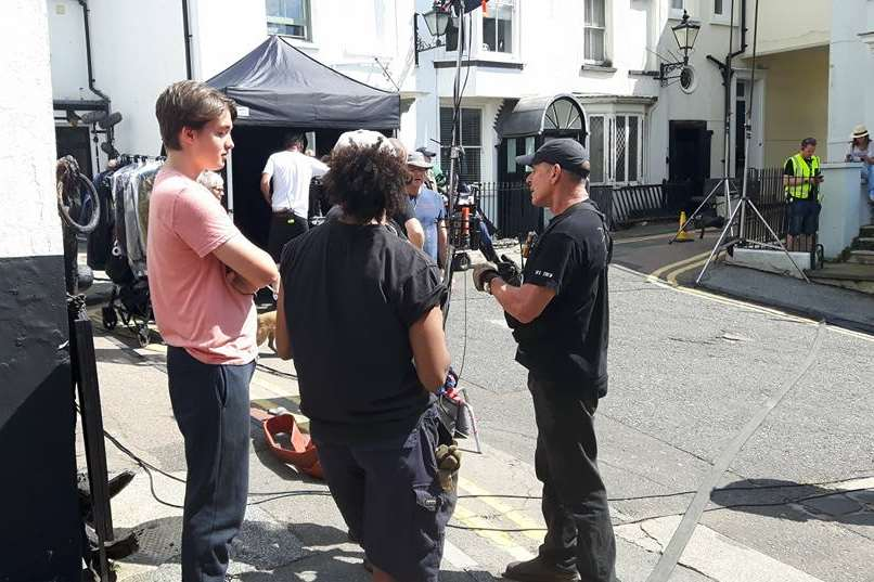 Filming in Broadstairs. Pic: Chris Amos
