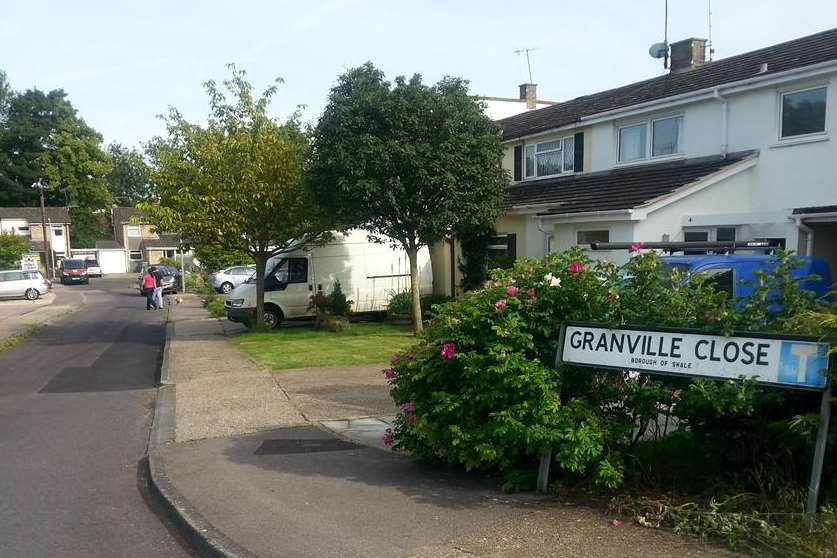The scene of the dog attack in Granville Close, Faversham