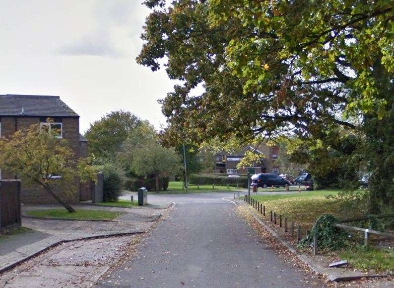 The incident happened in Field Drive, Edenbridge. Picture: Google.