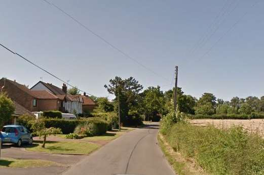 Thorn Road in Marden. Google Street View