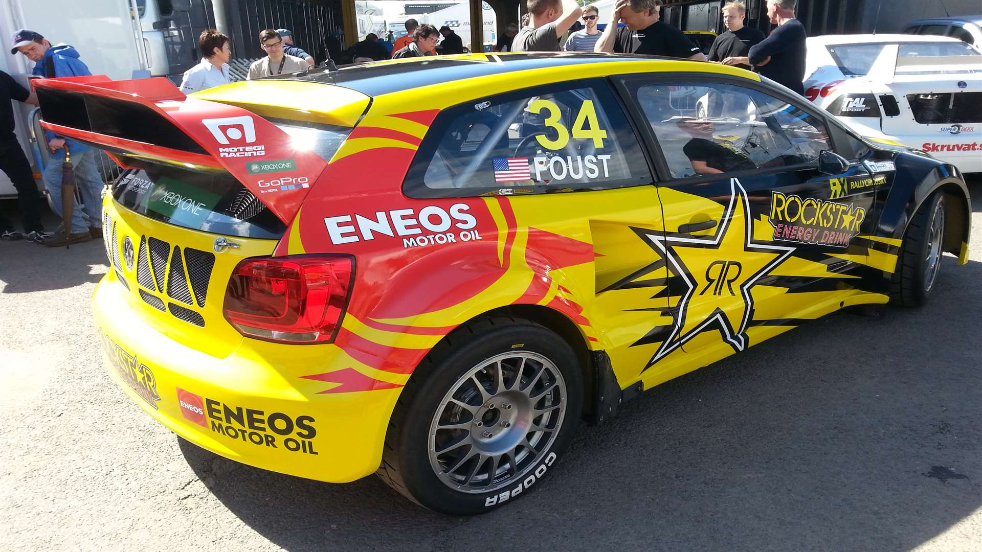 Tanner Foust's new VW Polo made an appearance in the afternoon