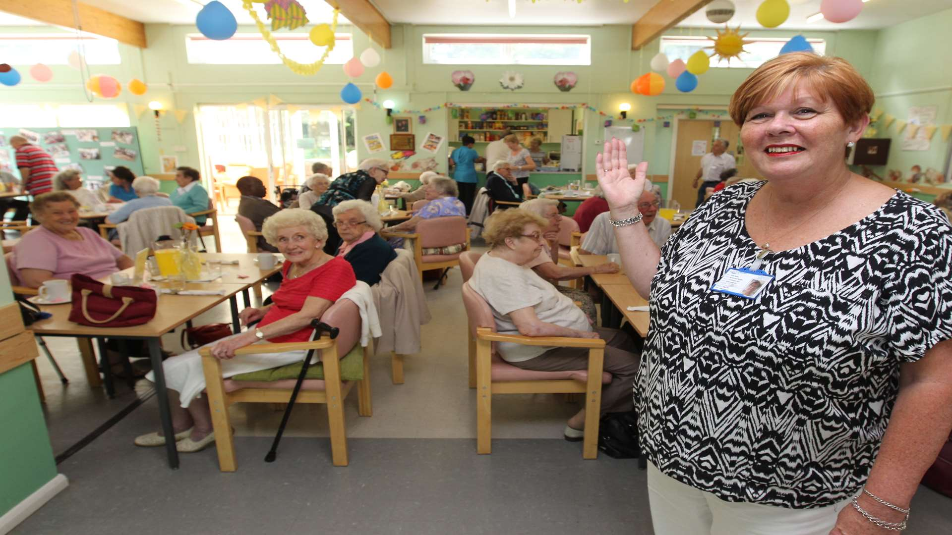 Chriss Monks, Day Services Manager, highlights the new day centre at Age UK