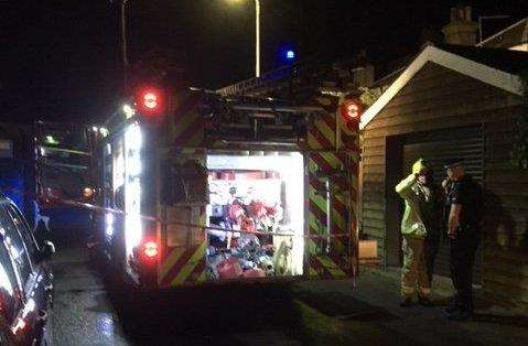 The scene after a house fire in Walmer. Picture: Kent Police
