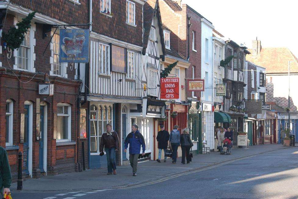 The man suffered a cardiac arrest in Palace Street, Canterbury
