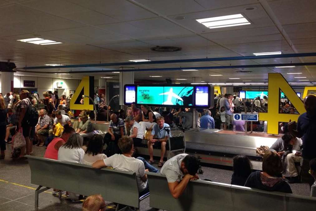 Hundreds were left waiting for their luggage at Gatwick. Picture: Rob Wills