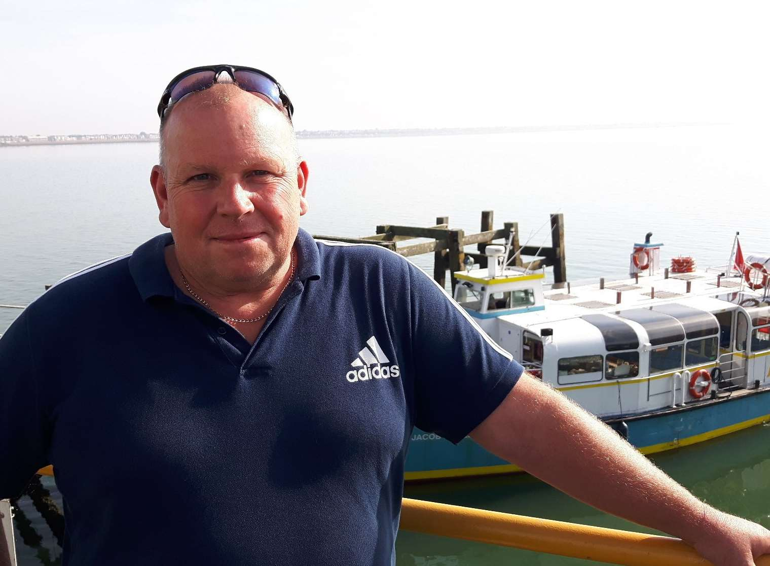Dave Wilcock, the man behind the first ferry from Sheppey to Southend Pier for more than 20 years.