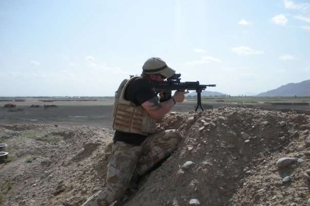Christopher Pollitt in May 2009 in Afghanistan