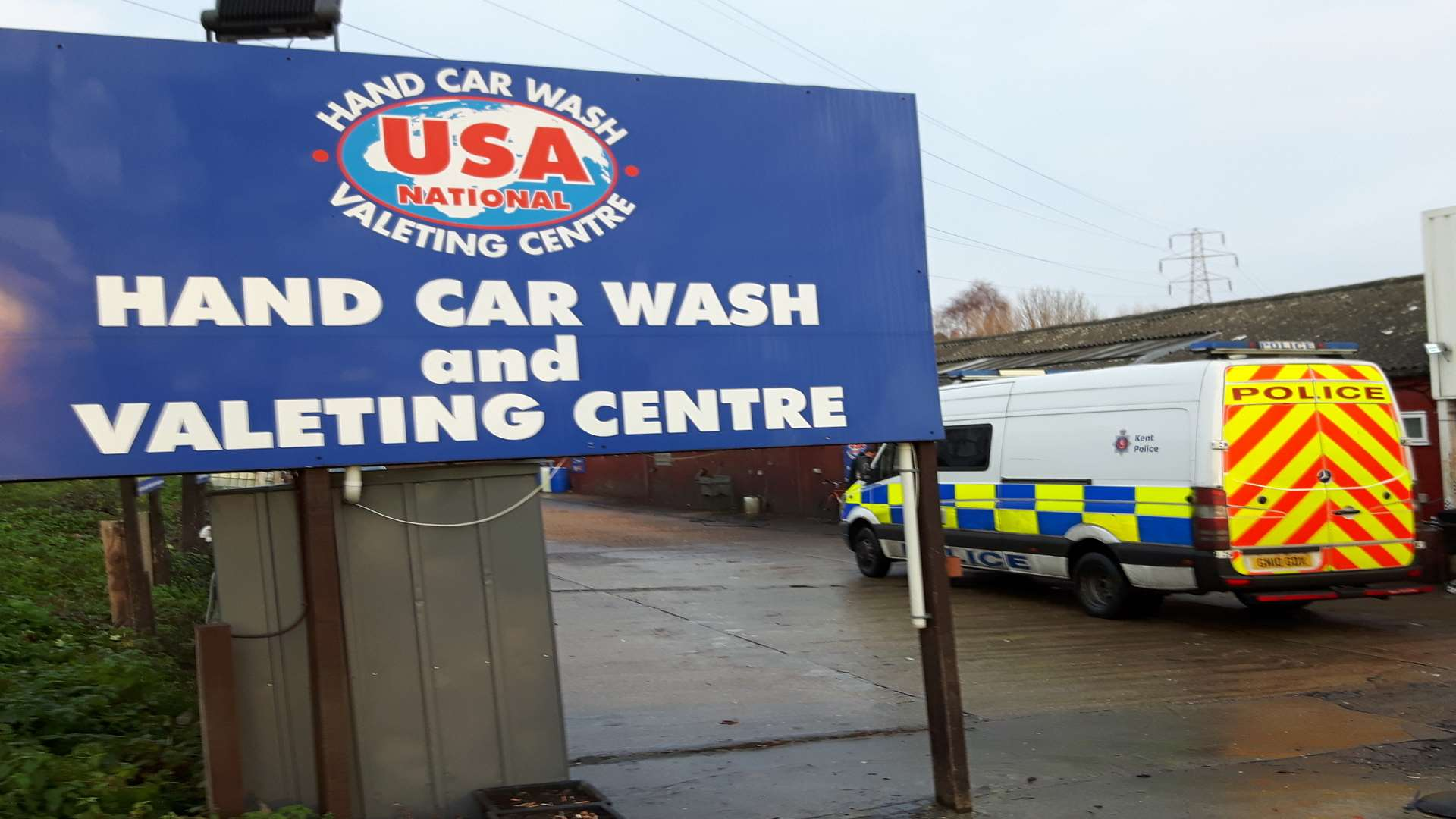 The USA Hand Car Wash in Broad Oak Road