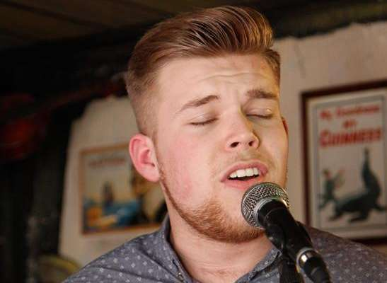 Jamie Johnson belts out a classic during a visit to The Barge pub