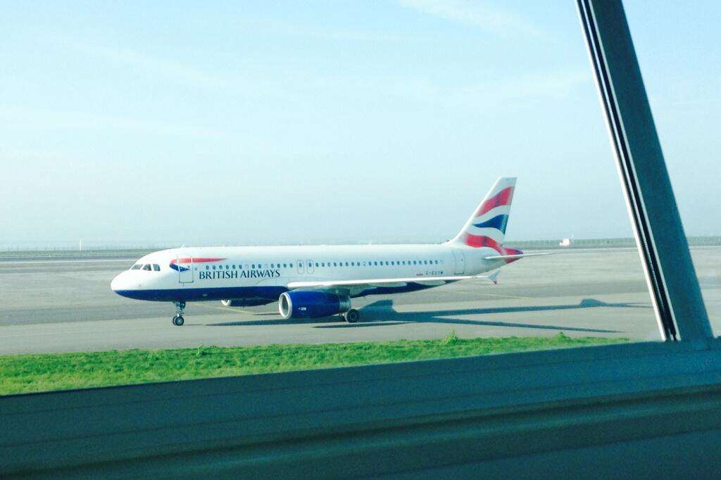 The BA flight from Helsinki had to be diverted to Manston because of fog at Heathrow. Picture: @nickcoxpilot
