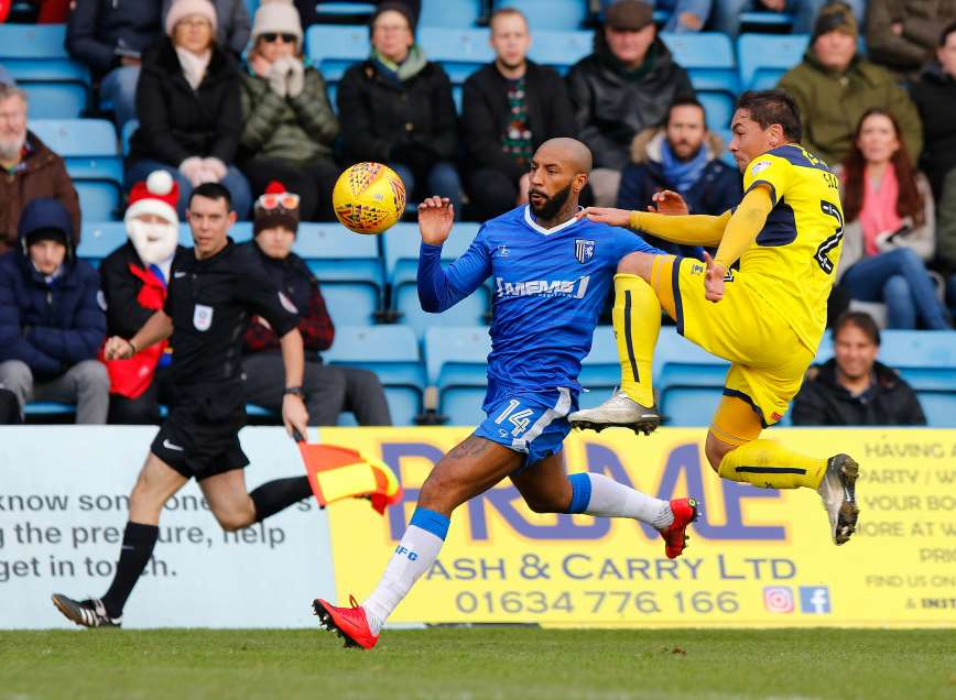 Josh Parker in action against Oxford United Picture: Andy Jones