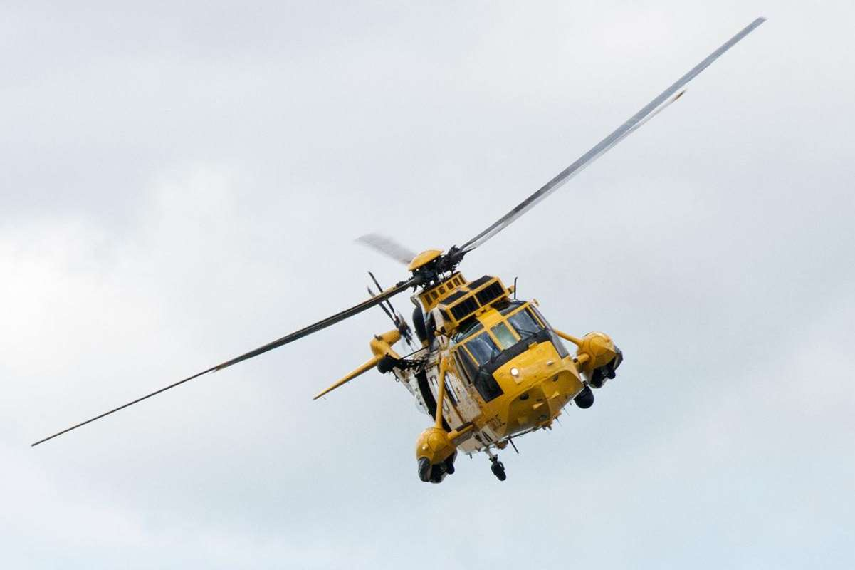 An RAF helicopter was involved in the search. Picture: Library iamge