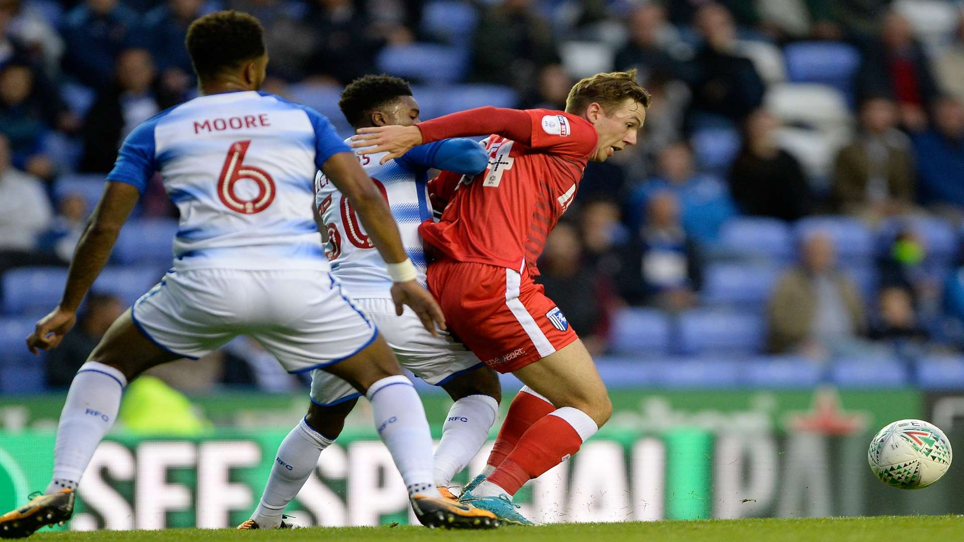Greg Cundle made his first start for the Gills at Reading on Tuesday Picture: Ady Kerry