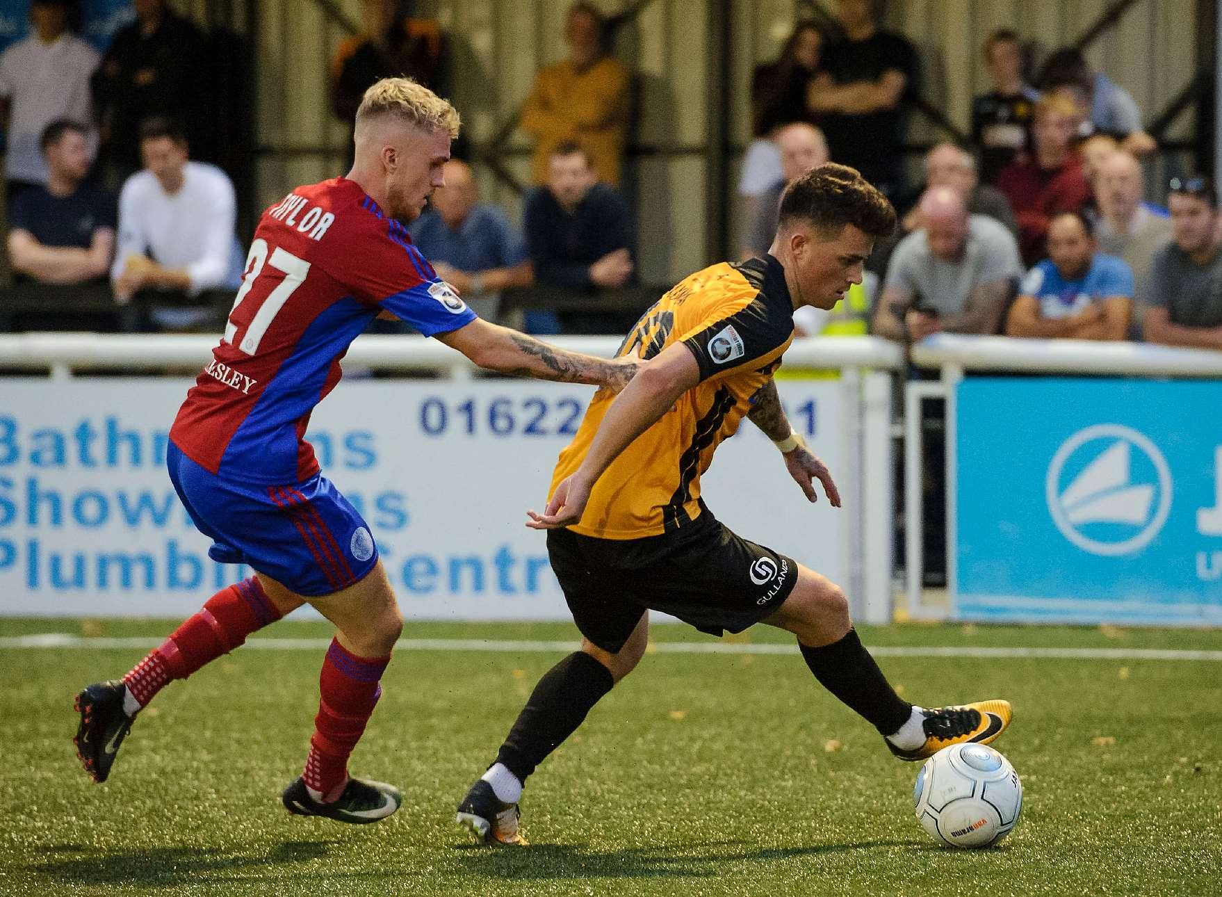 Jack Paxman goes up against former Maidstone team-mate Bobby-Joe Taylor Picture: Andy Payton