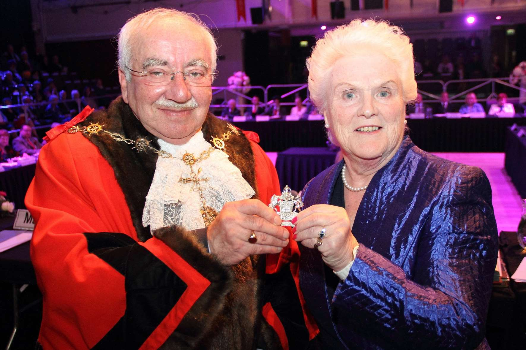 Cllr Harold Craske is the new Mayor of Gravesham, taking over from Cllr Greta Goatley. Picture: Gravesham Borough Council