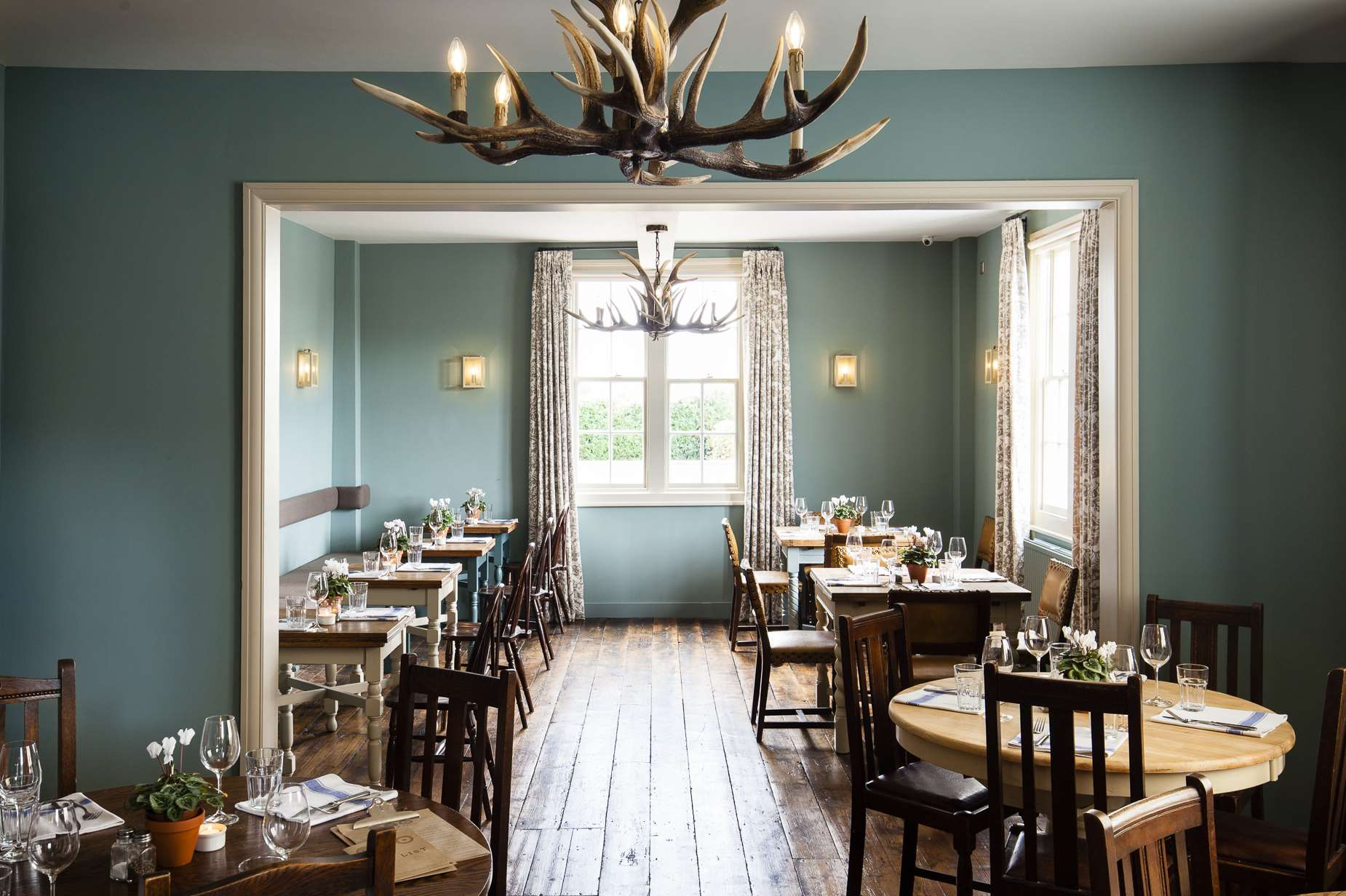 The Barrow House dining room in Egerton