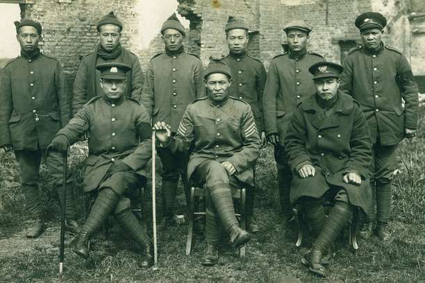 Chinese troops photographed on the Western Front during the First World War. Picture: Chinese Art Space