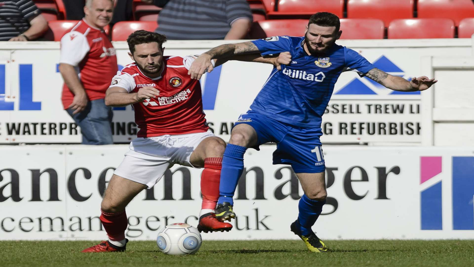 Ebbsfleet's Dean Rance in action against Eastleigh Picture: Andy Payton