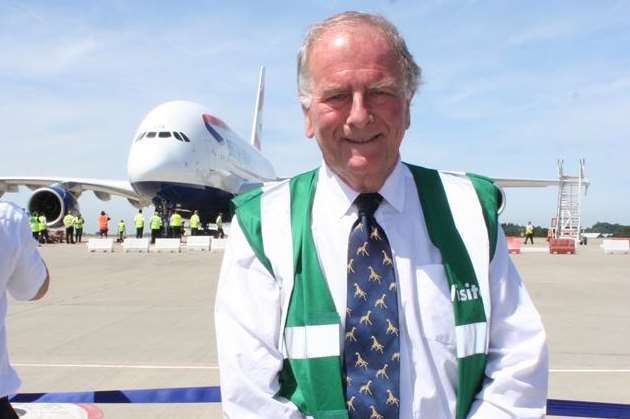 North Thanet MP Sir Roger Gale at Manston Airport