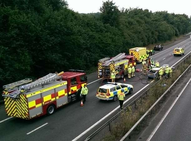 The high number of crashes on the M2 has been blamed on poor driving