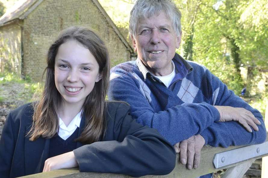 Victoria Leidig, from Adisham, with her father David