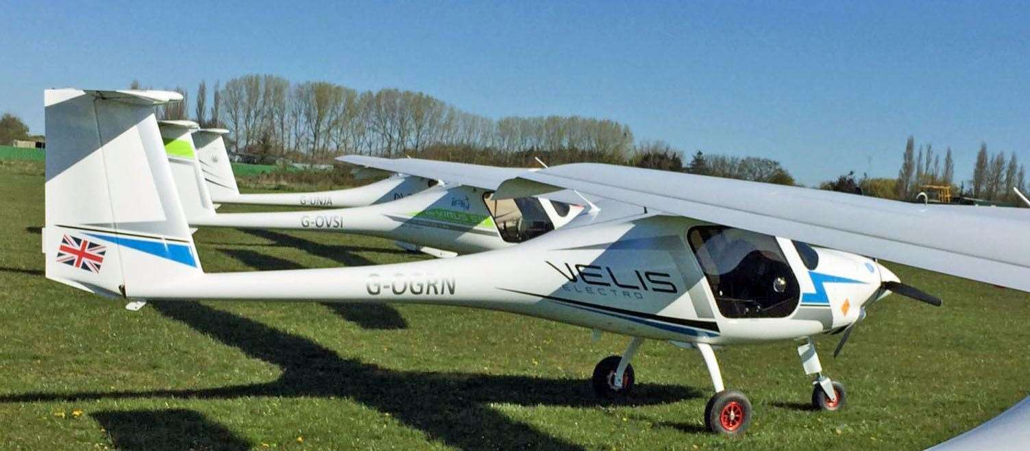 Two of the electric planes expected to use the airstrip. Submitted picture