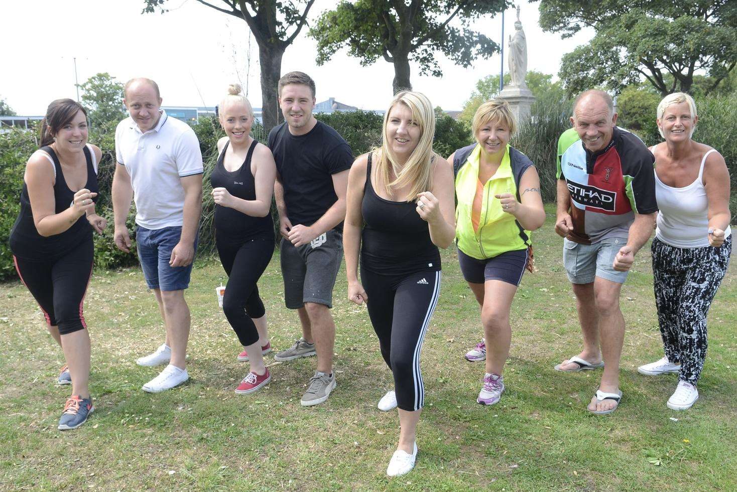 Carla Goodwin with family and friends who are doing a charity run in aid of Asthma UK in memory of her son Joshua