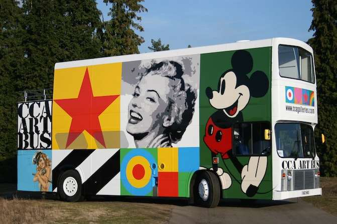 Peter Blake's CCA art bus