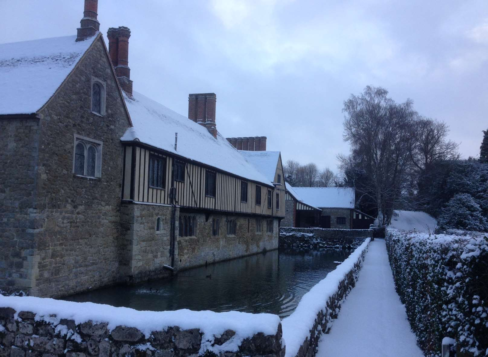 Ightham Mote in the snow this week