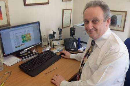 Dr Julian Spinks at his Strood surgery