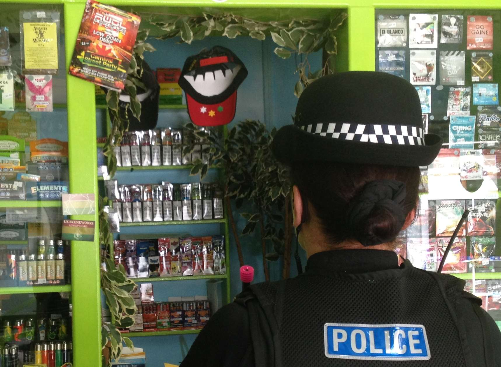 Police officers supported Trading Standards in the raid