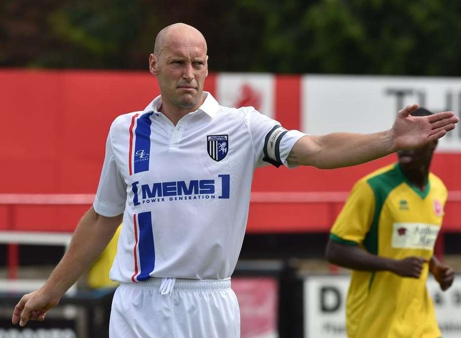 Gillingham's Adam Barrett is on loan at AFC Wimbledon Picture: Keith Gillard