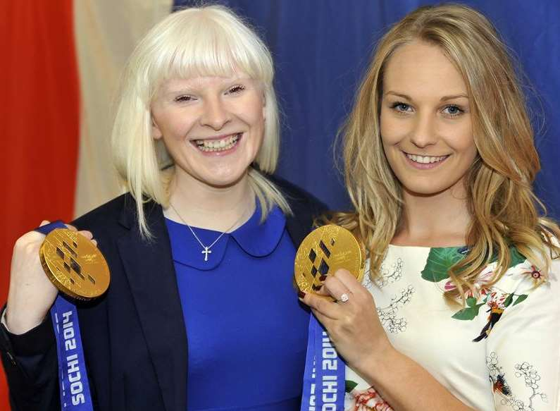 Paralympic skier Kelly Gallagher and Charlotte Evans won gold medals at the Sochi Winter Olympics Picture: Nick Johnson