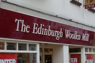 The incident happened at The Edinburgh Woollen Mill shop. Stock pic