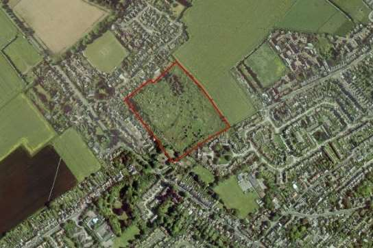 Greenlight Developments has set out its proposals for 48 homes and a 68 bed nursing home on this outlined site known as Churchfield Farm in Sholden